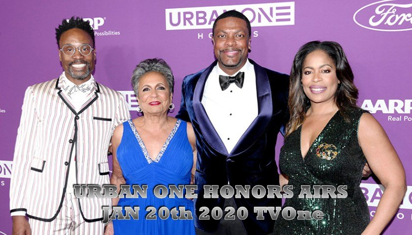 URBAN ONE HONORS AIRS JAN. 20th 2020 TVOne
