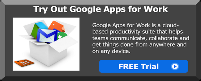 Google Apps For Work Free Trial